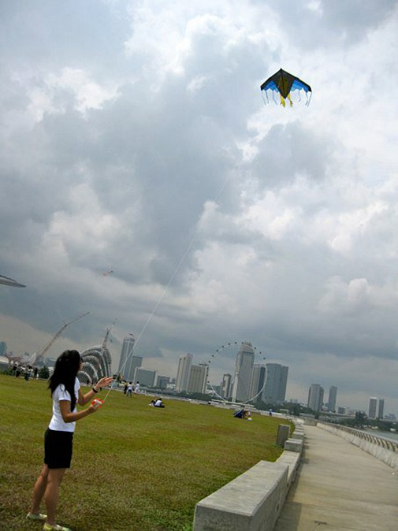 marina barrage kite flying