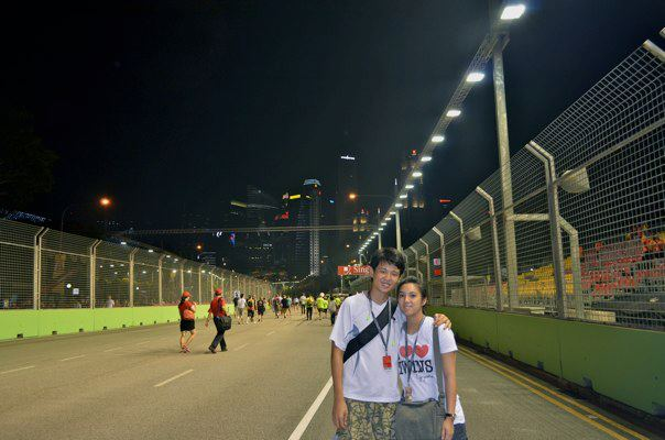 on-f1-singapore-race-track