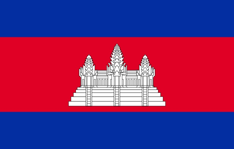 Cambodia Temple On Flag